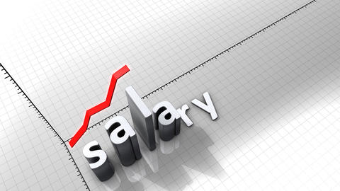 Growing chart graphic animation, Salary Animation