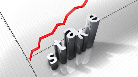 Growing chart graphic animation, Stake Stock Video Footage