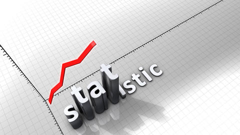 Growing chart graphic animation, Statistic Animation
