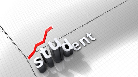 Growing chart graphic animation, Student Animation
