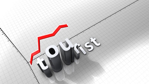 Growing chart graphic animation, Tourist Animation