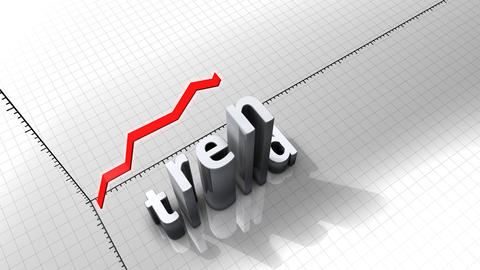 Growing chart graphic animation, Trend Animation