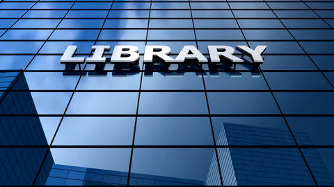 Library building blue sky timelapse Animation