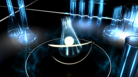 Scientific Graphic Animation stock footage
