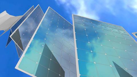 Solar panel concept animation Animation