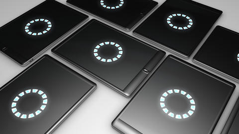 Tablet tiles Stock Video Footage