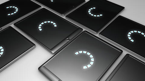 Tablet Tiles stock footage
