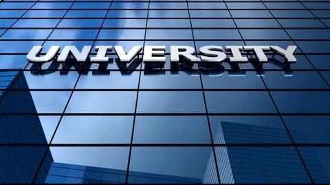 University building blue sky timelapse Animation