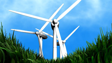 Wind energy background animation Animation