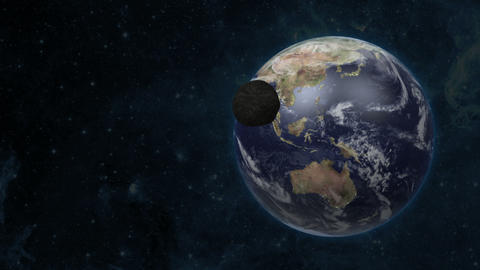 Asteroid Flies To The Earth 1 stock footage
