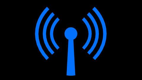 Wifi Wireless Internet Netrwork Net Connection Ico stock footage