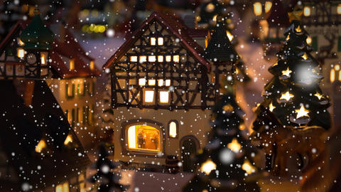 4K Winter Village With Snow stock footage