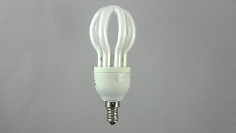 Energy saving lamp. 4K Footage
