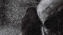 Tv ghost skull smoke noise Footage