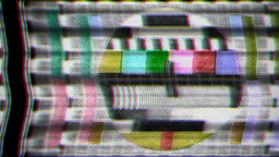 TV test card noise Footage