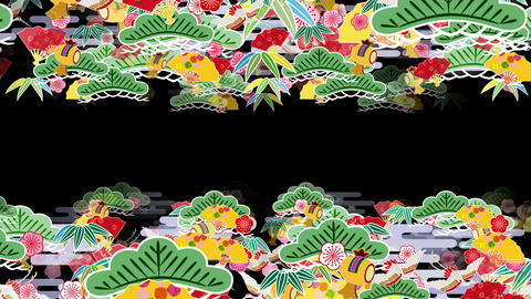 Japanese Pattern Engimono A 1b 4k stock footage