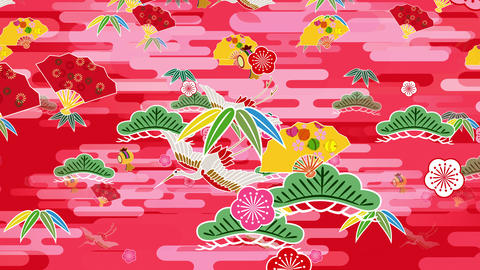Japanese Pattern Engimono B 1r 4k Animation