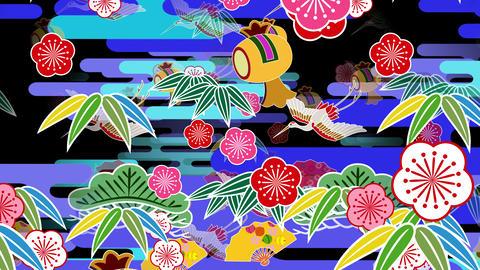 Japanese Pattern Engimono Bs 1b 4k Animation