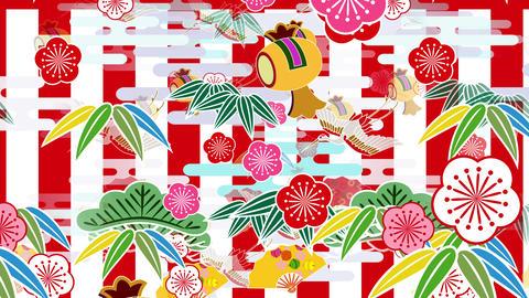 Japanese Pattern Engimono Bs 1rw 4k Animation