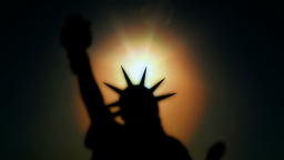 Statue of Liberty silhouette Footage