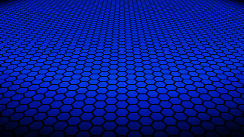 blue hexagonal floor Animation
