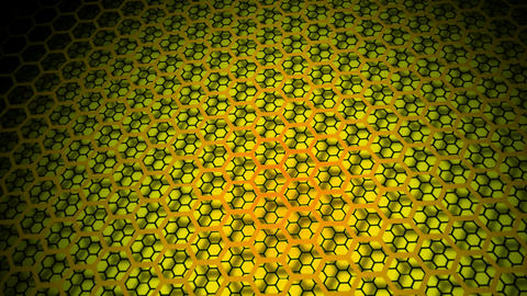 yellow ligjts hexagonal Animation