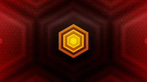 red hexagonal spot Animation