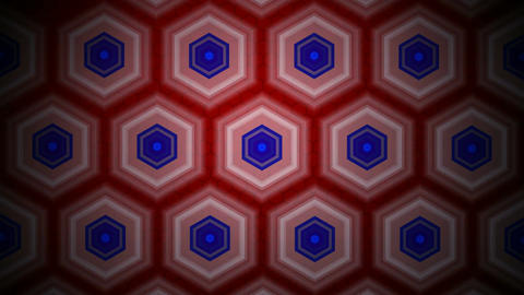 retro hexagonal background Animation