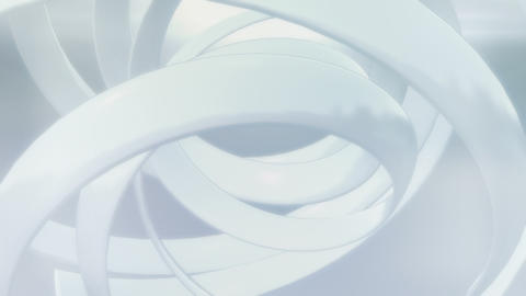 White Hybrid Swirl Loop Animation