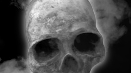 Skull noir scary horror Footage