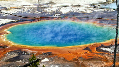 Grand Prismatic Springs Footage