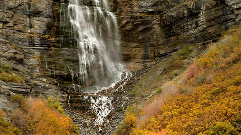 Bridal Veil Falls stock footage