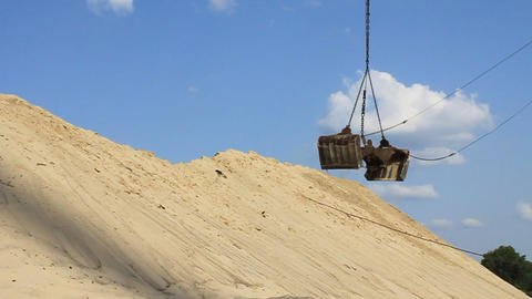 Unloading Of Sand stock footage