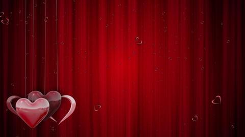 Shining Valentines Love Heart Shapes Animation