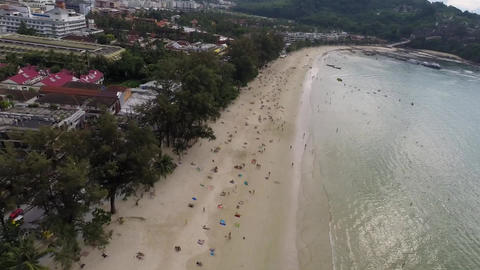 Flying Over The City And The Beach. Phuket. Patong stock footage