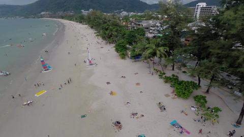Sea, beach, aerial Footage