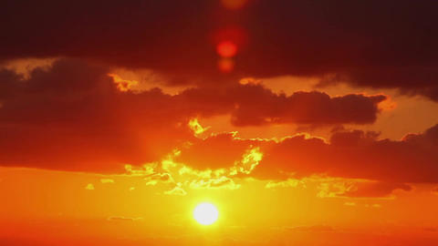Sunset. (Time Lapse) stock footage
