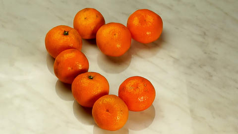 Tangerines In The Form Of Heart stock footage