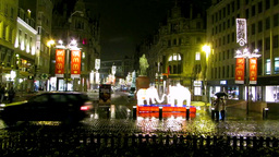 Christmas Shopping In Belgium stock footage