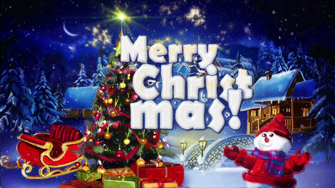 Winter Greeting Merry Christmas Animation