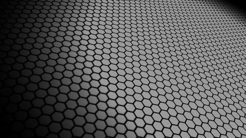 hexa space monochrome Animation