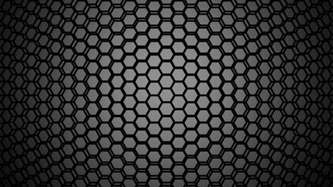 gray hexagon wire Animation