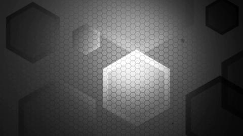 grey shine hexagonal Animation