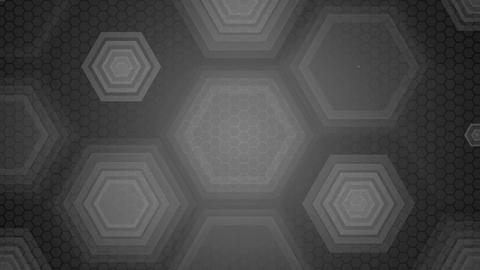 grey overlay hexagon Animation