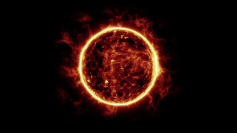 Sun And Earth Animation With Starfield Videos animados
