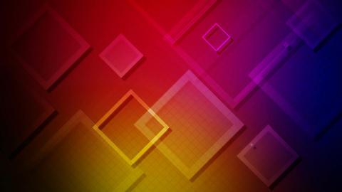 colorful flying rhombus Animation