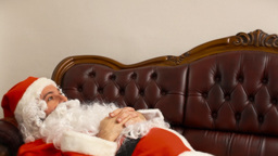 Santa Claus in therapy happy Footage