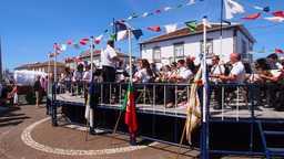 Holy Spirit Festival On Terceira Island, Azores, P stock footage
