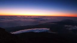 Sunrise On Pico Mountain, Pico Island, Azores, Por stock footage
