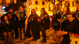 Performance In Funchal, Madeira, Portugal stock footage